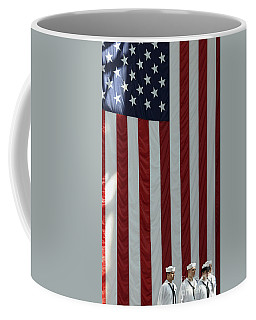 Sailors Stand In Front Of The American Coffee Mug