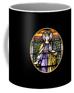 Coffee Mug featuring the photograph Saint Adelaide Stained Glass Window In The Round by Rose Santuci-Sofranko