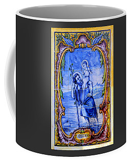 Saint Christopher Carrying The Christ Child Across The River - Near Entrance To The Carmel Mission Coffee Mug