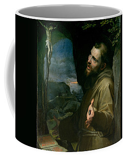 Coffee Mug featuring the painting Saint Francis by Federico Barocci