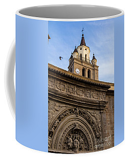 Coffee Mug featuring the photograph Saint Hieronymus Facade Of Calahorra Cathedral by RicardMN Photography