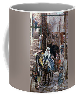 Saint Joseph Seeks Lodging In Bethlehem Coffee Mug