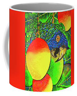 Saint Lucia Parrot With Mangos Coffee Mug