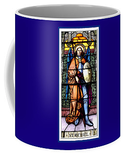 Coffee Mug featuring the photograph Saint Michael The Archangel Stained Glass Window by Rose Santuci-Sofranko