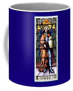 Saint Michael The Archangel Stained Glass Window Coffee Mug