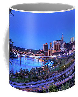 Saint Paul Minnesota Skyline Blue Morning Light Coffee Mug