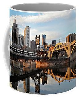 Saint Paul Mississippi River Sunset Coffee Mug
