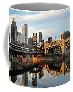 Saint Paul Mississippi River Sunset Coffee Mug