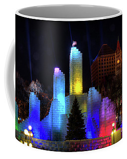Saint Paul Winter Carnival Ice Palace 2018 Lighting Up The Town Coffee Mug