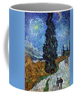 Saint-remy Road With Cypress And Star Coffee Mug