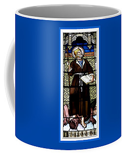 Coffee Mug featuring the photograph Saint William Of Aquitaine Stained Glass Window by Rose Santuci-Sofranko