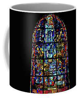 Sainte-mere-eglise Paratrooper Tribute Stained Glass Window Coffee Mug