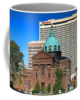 Saints Peter And Paul And Sheraton Hotel In Philadelphia  Coffee Mug