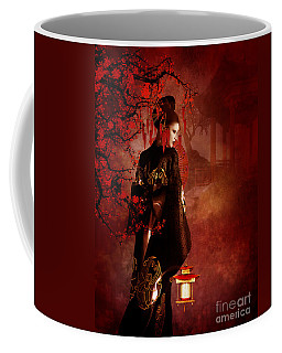 Sakura Red Coffee Mug