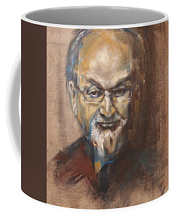 Salman Rushdie Portrait Coffee Mug