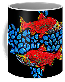 Coffee Mug featuring the painting Salmon by Debbie Chamberlin
