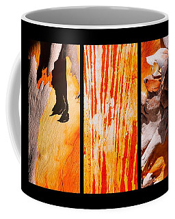 Salmon Gum Tree Triptych Coffee Mug