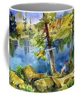 Salmon Lake Fisherman Coffee Mug