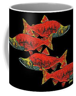 Salmon Season Coffee Mug by Debbie Chamberlin
