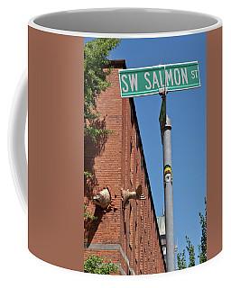 Salmon Through A Building Coffee Mug