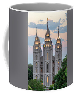 Coffee Mug featuring the photograph Salt Lake City Temple Morning by Dustin  LeFevre