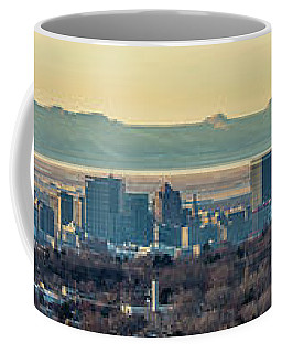Coffee Mug featuring the photograph Salt Lake City With Antelope Island by Spencer Baugh
