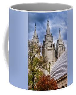 Salt Lake Lds Temple And Tabernacle - Utah Coffee Mug by Gary Whitton