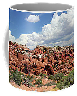 Salt Valley Panorama With La Sal Mountains Coffee Mug
