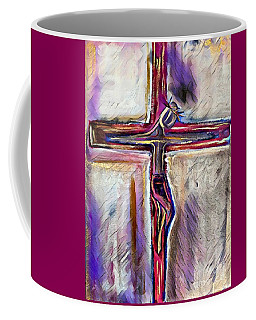 Coffee Mug featuring the mixed media Salvation by Jessica Eli