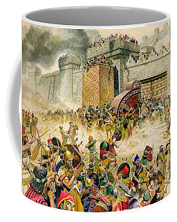 Samaria Falling To The Assyrians Coffee Mug