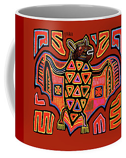 San Blas Kuna Indian Bat Coffee Mug by Vagabond Folk Art - Virginia Vivier