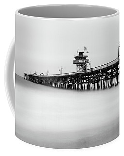 Coffee Mug featuring the photograph San Clemente Pier by Tassanee Angiolillo
