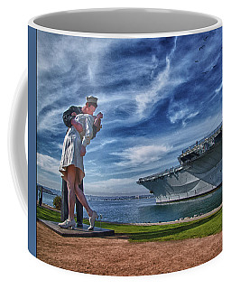 Coffee Mug featuring the photograph San Diego Sailor by Chris Lord