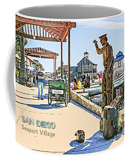 San Diego - Seaport Village Scene Coffee Mug