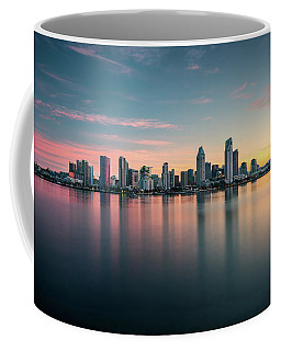 Coffee Mug featuring the photograph San Diego Skyline At Dawn by James Udall