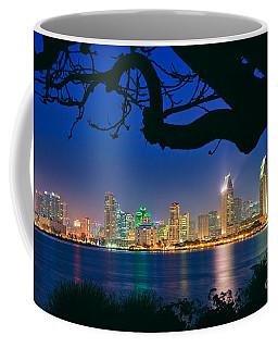 San Diego Skyline From Bay View Park In Coronado Coffee Mug