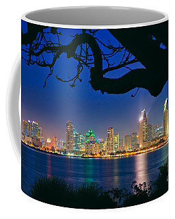 San Diego Skyline From Bay View Park In Coronado Coffee Mug