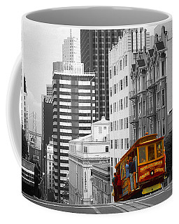 San Francisco - Red Cable Car Coffee Mug