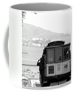 San Francisco Cable Car With Alcatraz Coffee Mug