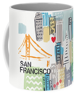 San Francisco Cityscape- Art By Linda Woods Coffee Mug