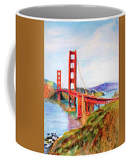 San Francisco Golden Gate Bridge Impressionism Coffee Mug