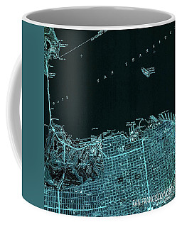 San Francisco North Old Map Year 1947 Blue Artwork Coffee Mug