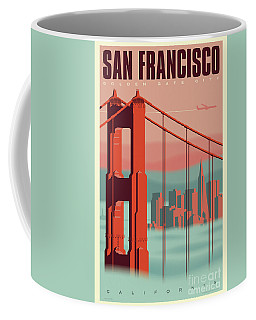 San Francisco Poster - Vintage Travel Coffee Mug
