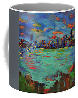 San Francisco Skyline In Sunset Coffee Mug