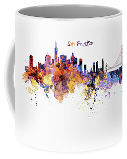 San Francisco Watercolor Skyline Coffee Mug by Marian Voicu