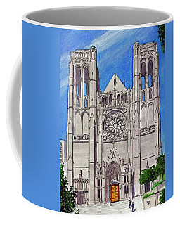 San Francisco's Grace Cathedral Coffee Mug by Mike Robles