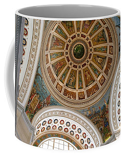 Coffee Mug featuring the photograph San Juan Capital Building Ceiling by Lois Lepisto