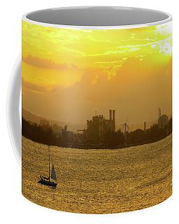 San Juan Harbor Sunset Coffee Mug by The Art of Alice Terrill
