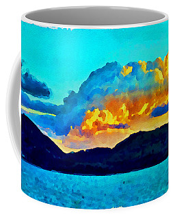 Coffee Mug featuring the painting San Juan Seascape by Joan Reese