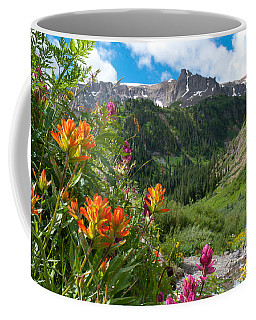 Coffee Mug featuring the photograph San Juans Indian Paintbrush Landscape by Cascade Colors